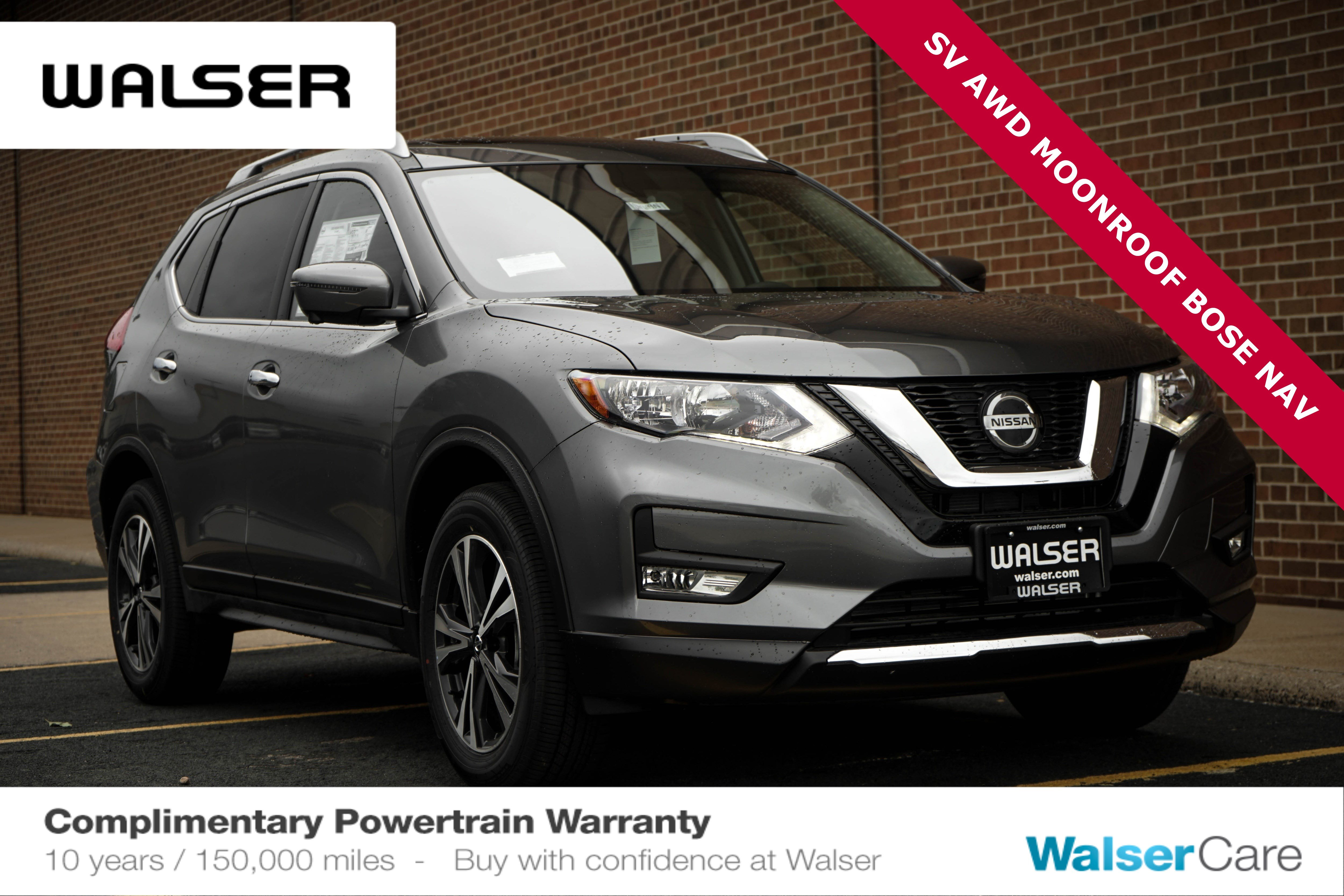 New 2020 Nissan Rogue SV AWD SUN AND SOUND PACKAGE