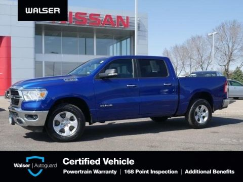 Pre-Owned 2019 Ram 1500 BIG HORN CREW 4X4 LEVEL 2 HTD STS HTD WHEEL